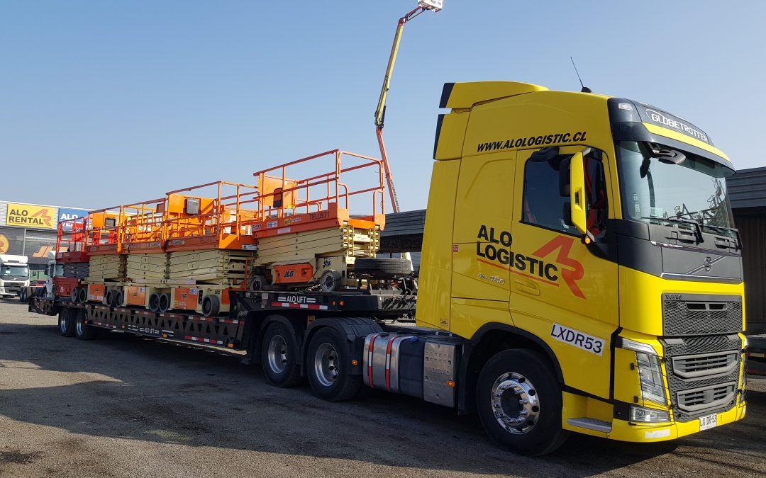 ALO Logistic realiza masiva entrega con 23 Elevadores Tijeras JLG y ALO Lift para inventario en Centro de Distribución